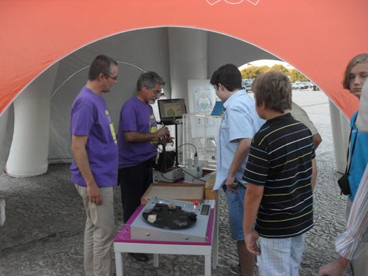 Saber Ciência no Ciência na Rua em Estremoz, 21 de setembro de 2013.